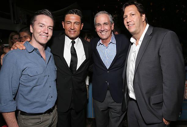 Pantelion COO Edward Allen, Fernando Colunga, Producer James McNamara and Pantelion CEO Paul Presburger attend the after party for Pantelion Films'...