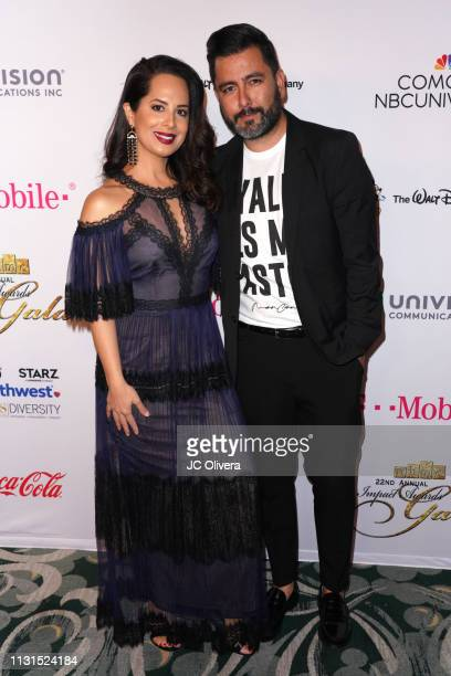 Pantelion Films VP of Publicity Jose Rodriguez and Jackeline Jimenez attend the 22nd Annual National Hispanic Media Coalition Impact Awards Gala at...