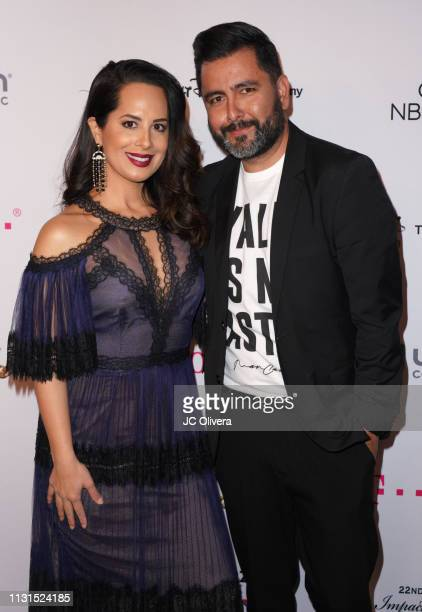 Pantelion Films VP of Publicity Jose Rodriguez and Jackeline Jimenez attend the 22nd Annual National Hispanic Media Coalition Impact Awards Gala at...
