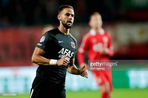 Pantelis Hatzidiakos of AZ during the Dutch Eredivisie match between FC Twente and AZ at De Grolsch Veste on September 23, 2021 in Enschede,...