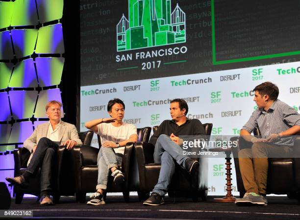Pantera Capital Founder and CEO Dan Morehead, OmiseGO Founder and CEO Jun Hasegawa, Bancor Protocol Co-Founder and Head of Product Eyal Hertzog, and...