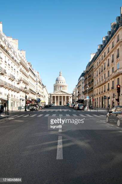 pantheon and empty streets during pandemic covid 19 in europe. - cemetery stock pictures, royalty-free photos & images