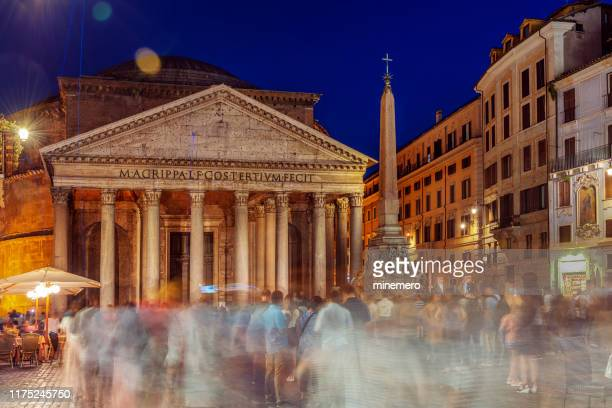 pantheon and fountain in rome - monument stock pictures, royalty-free photos & images