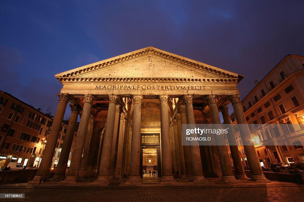 Pantheon by night : Stock Photo