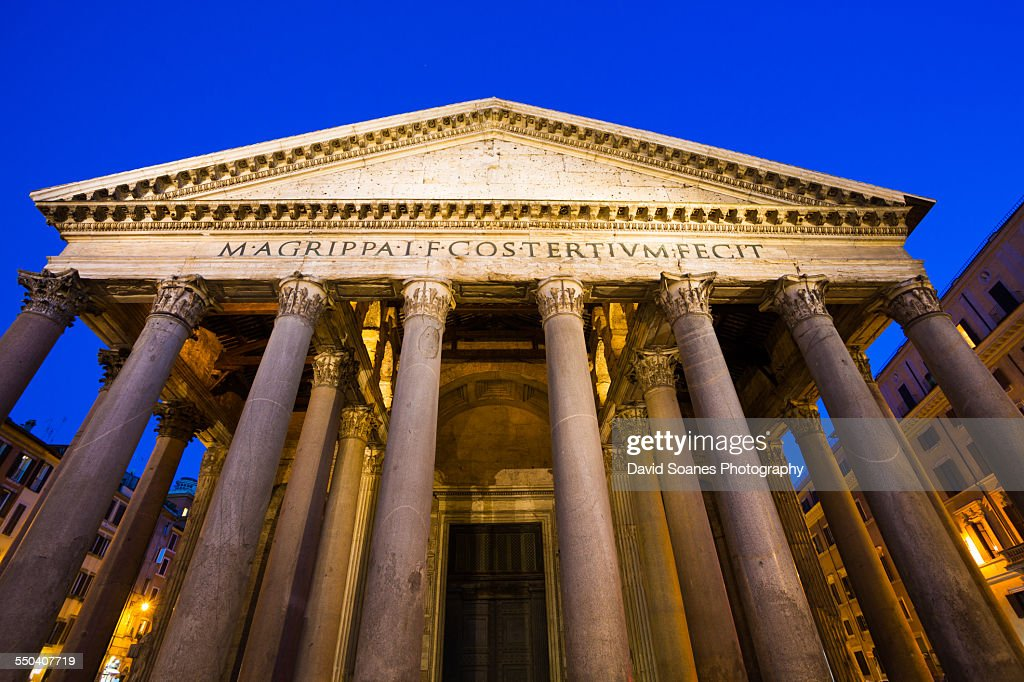 Pantheon in Rome, Italy at night : Stock Photo