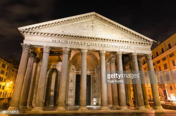 pantheon in rome - pantheon rome stock photos and pictures