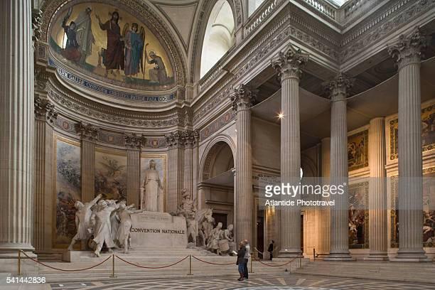 pantheon interior in paris - 新古典派 ストックフォトと画像