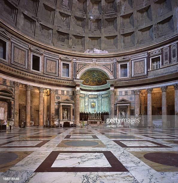 pantheon interior, rome - pantheon roma foto e immagini stock