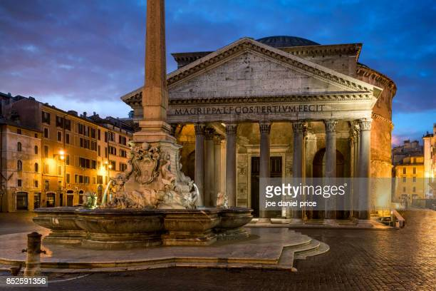 pantheon rome italy - pantheon rome stock photos and pictures