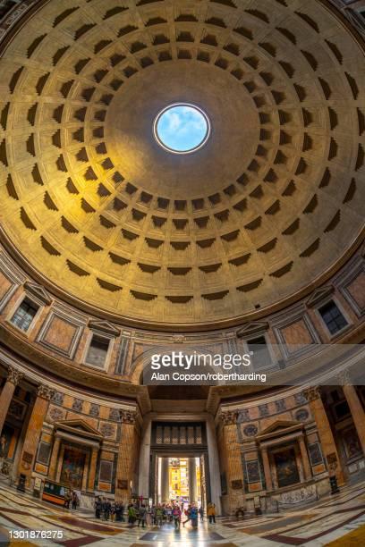 pantheon, unesco world heritage site, pigna, rome, lazio, italy, europe - alan copson stock pictures, royalty-free photos & images