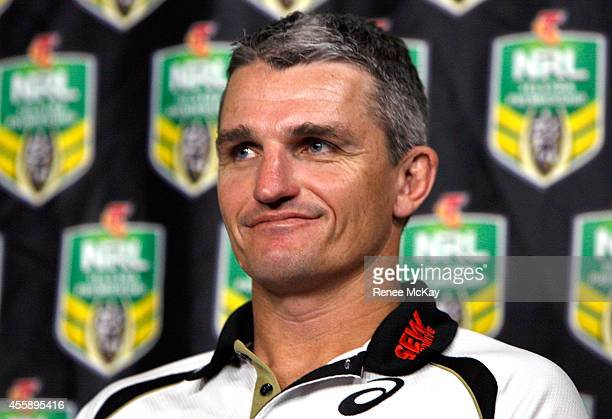 Panthers coach Ivan Cleary speaks to the media during a NRL Finals series press conference at Rugby League Central on September 22 2014 in Sydney...