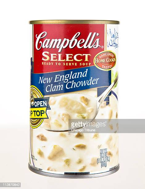 Pantry raid Is the old food on the back shelf safe Campbell's Select New England clam chowder