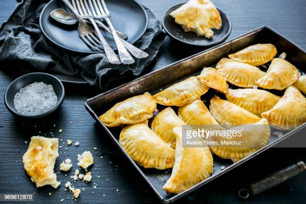 panzerotti (savoury turnovers from italy) - empanada stock pictures, royalty-free photos & images