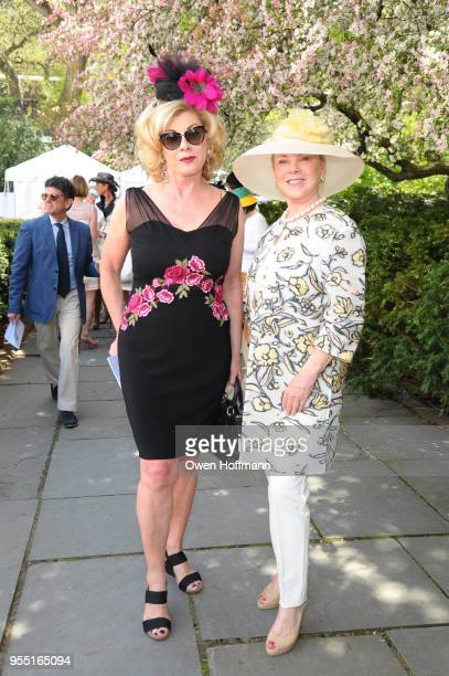 Paola Bacchini and Jeanne Lawrence attend 36th Annual Frederick Law Olmsted Awards Luncheon Central Park Conservancy at The Conservatory Garden in...