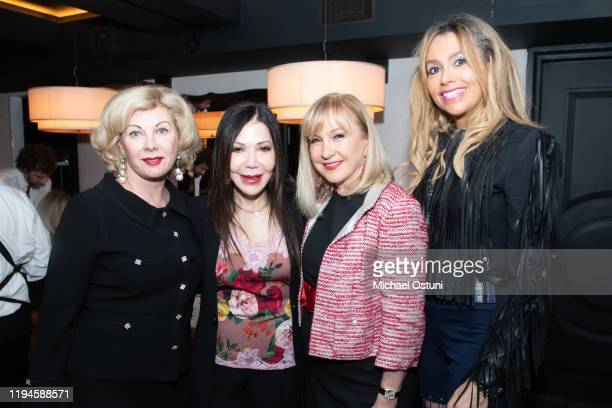 Paola Bacchini Jane Scher Katlean De Monchy and Lieba Nesis attend Jean Shafiroff 2019 Holiday Luncheon at Omar's at Vaucluse on December 17 2019 in...