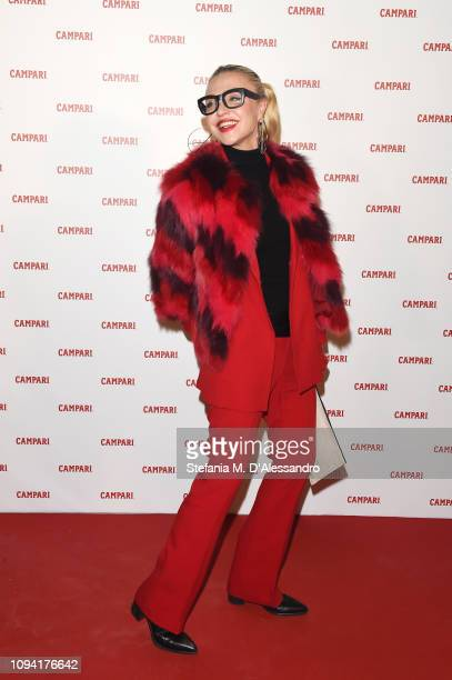 Paola Barale attends Campari Red Diaries 2019 Premiere Event on February 5 2019 in Milan Italy