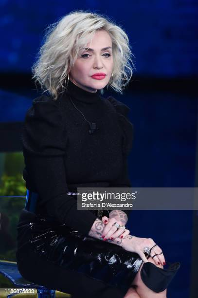 Paola Barale attends Che Tempo Che Fa TV Show on November 10 2019 in Milan Italy