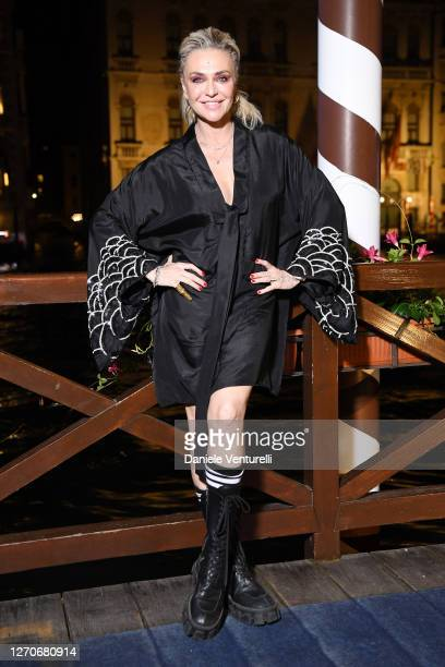 Paola Barale attends the Diva e Donna prize during the 77th Venice Film Festival at Sina Centurion Palace on September 04, 2020 in Venice, Italy.