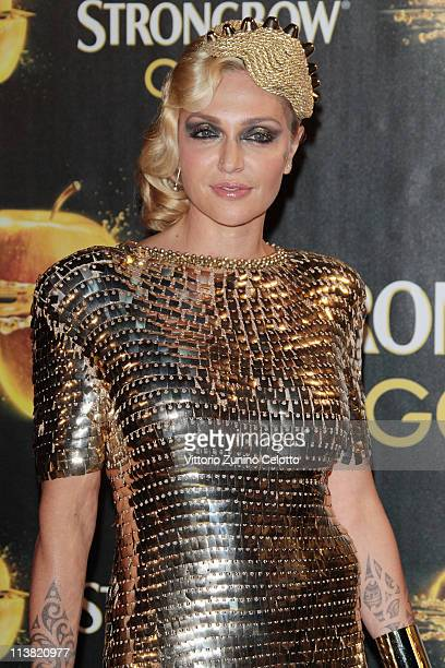 Paola Barale attends 'The Gold Experience' red carpet on May 6 2011 in Milan Italy