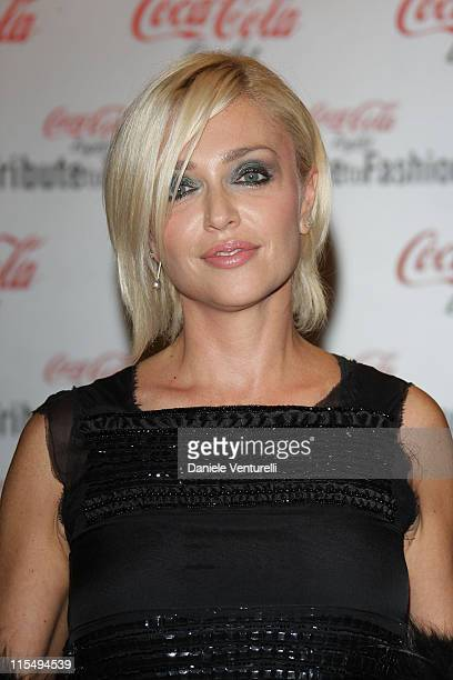 Paola Barale attends 'Tribute To Fashion' charity event as part of the Milan Womenswear Fashion Week Spring/Summer 2010 at the Milano Fashion Center...