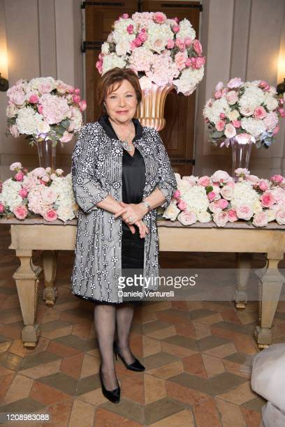 Paola Cacianti attends the wedding of Earl Vittorio Palazzi Trivelli And Isabelle Adriani on February 22 2020 in Rome Italy