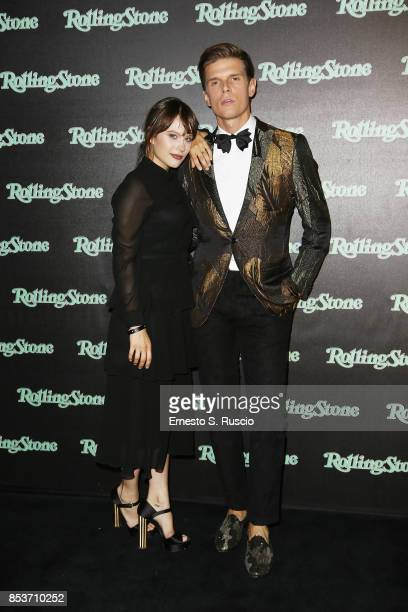 Paola Calliari and Alessandro Egger attend Rolling Stone Party during Milan Fashion Week Spring/Summer 2018 at on September 24 2017 in Milan Italy