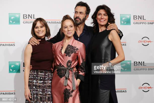 Paola Calliari Marina Occhionero Ulisse Lendaro and Anna Valle attend 'L'Eta' Imperfetta Photocall' photocall during the 12th Rome Film Fest at...