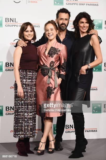 Paola Calliari Marina Occhionero Ulisse Lendaro and Anna Valle attend 'L'Eta' Imperfetta Photocall' photocall during the 12th Rome Film Fest at...