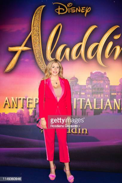 Paola Caruso attends the Aladdin photocall and red carpet at The Space Cinema Odeon on May 15 2019 in Milan Italy