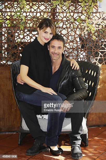 Paola Cortellesi and Raoul Bova attend the 'Scusate Se Esisto' photocall at Cinema Barberini on November 14 2014 in Rome Italy