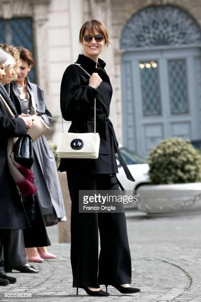 Paola Cortellesi arrives for the David Di Donatello nominees presentation at Palazzo del Quirinale on March 21 2018 in Rome Italy