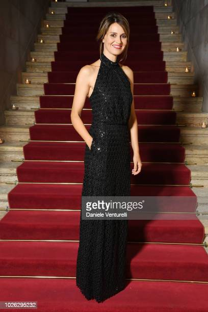 Paola Cortellesi attends 2018 Kineo Dinner during the 75th Venice Film Festival on September 2 2018 in Venice Italy