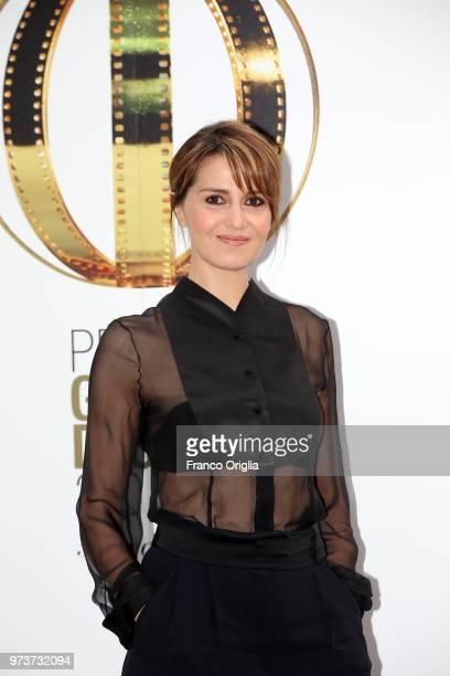 Paola Cortellesi attends Globi D'Oro awards ceremony at the Academie de France Villa Medici on June 13 2018 in Rome Italy