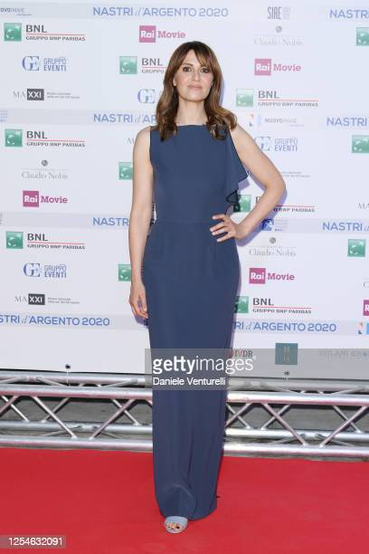 Paola Cortellesi attends the 74th edition of the Nastri D'Argento 2020 on July 06 2020 in Rome Italy