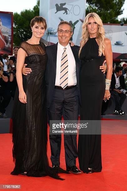 Paola Cortellesi Mario Sesti and Tiziana Rocca attend La Jalousie Premiere during the 70th Venice International Film Festival at the Sala Grande on...