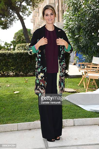 Paola Cortellesi poses after the Kineo Diamanti Award press conference during the 73rd Venice Film Festival at on September 4 2016 in Venice Italy