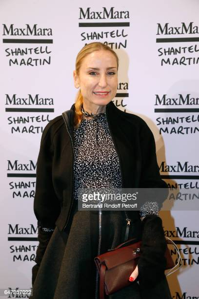 Paola D'Assche attends the Max Mara 'Prism in Motion' Eventas with the presentation of the new collection Capsule of sunglasses Max Mara realized in...