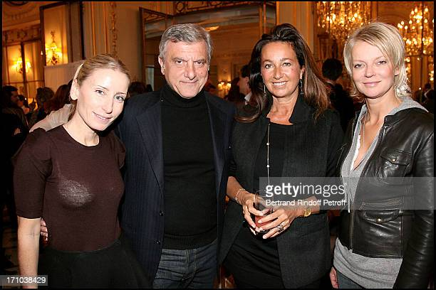 Paola D'Assche Sidney Toledano and wife Katia with Princesse Helene De Yougoslavie at The Preview Screening Of The Movie Une Belle Humanitaire Is...