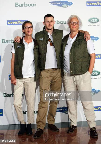 Paola Dominguin actor Nicolas Coronado and Lucia Dominguin attend Land Rover Discovery Challenge presentation on June 20 2018 in Madrid Spain