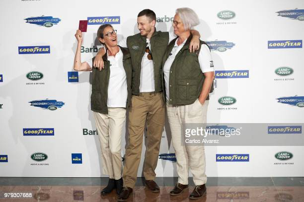 Paola Dominguin actor Nicolas Coronado and Lucia Dominguin present 'Land Rover Discovery Challenge' 2018 at the Barajas Airport on June 20 2018 in...