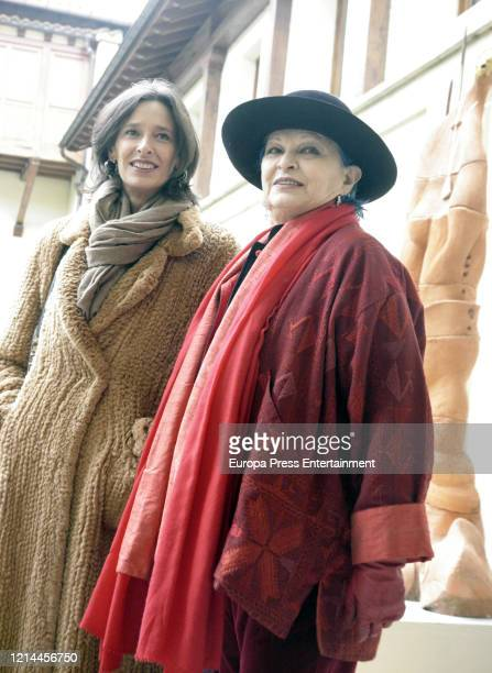 Paola Dominguin and Lucia Bose visit an art exposition March 18 2005 in Bilbao Spain
