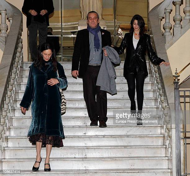 Paola Dominguin attends Lucia Bose' 80th birthday party at Circulo de Bellas Artes on January 28, 2011 in Madrid, Spain.