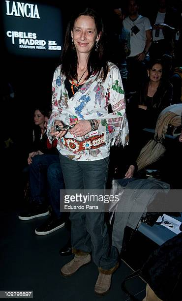 Paola Dominguin attends the Francis Montesinos fashion show during the Cibeles Madrid Fashion Week A/W 2011 at Ifema on February 19 2011 in Madrid...