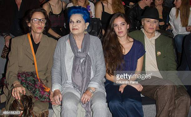 Paola Dominguin , Lucia Bose and Lucia Dominguin attend Mercedes Benz Fashion Week Madrid W/F 2014 at Ifema on February 15, 2014 in Madrid, Spain.