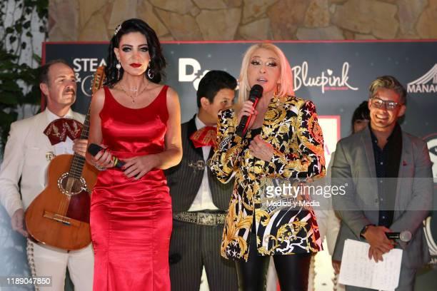 Paola Durante and Yuri attend Paola Durante Presentation of Her Book 'No todo es color de rosa' on November 20 2019 in Mexico City Mexico