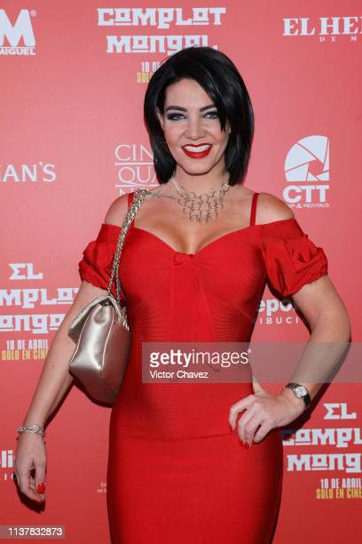 Paola Durante attends El Complot Mongol Mexico City premiere at Cinepolis Diana on April 17 2019 in Mexico City Mexico