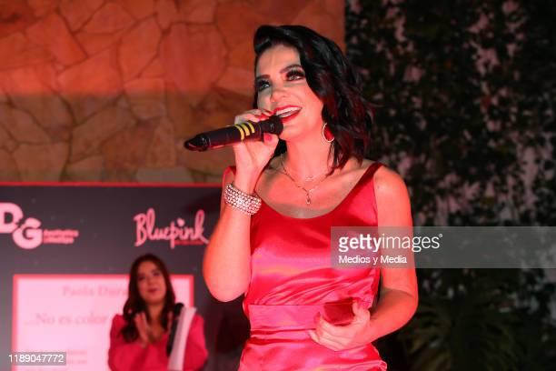 Paola Durante performs during Paola Durante Presentation of Her Book 'No todo es color de rosa' on November 20 2019 in Mexico City Mexico