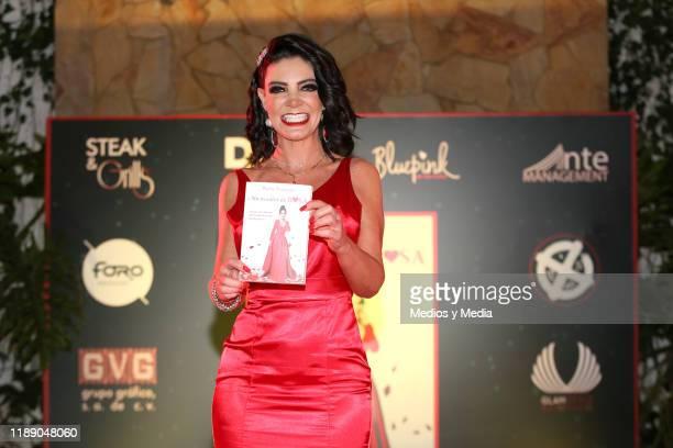 Paola Durante poses for photos during Paola Durante Presentation of Her Book 'No todo es color de rosa' on November 20 2019 in Mexico City Mexico