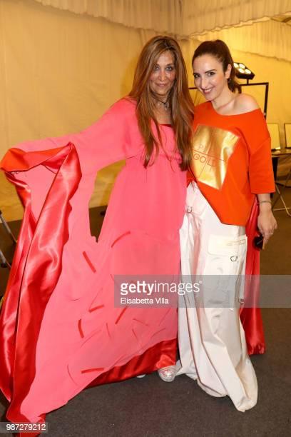 Paola Emilia Monachesi and Anna Ferraioli Ravel attend Sfilata AU197SM AltaRoma on June 29 2018 in Rome Italy