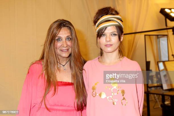 Paola Emilia Monachesi and Eugenia Costantini attend Sfilata AU197SM AltaRoma on June 29 2018 in Rome Italy